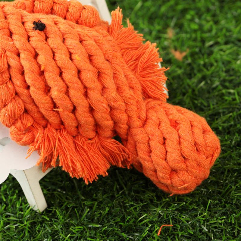 出口棉绳 狗狗编织玩具 动物系列 小鱼 总长16cm