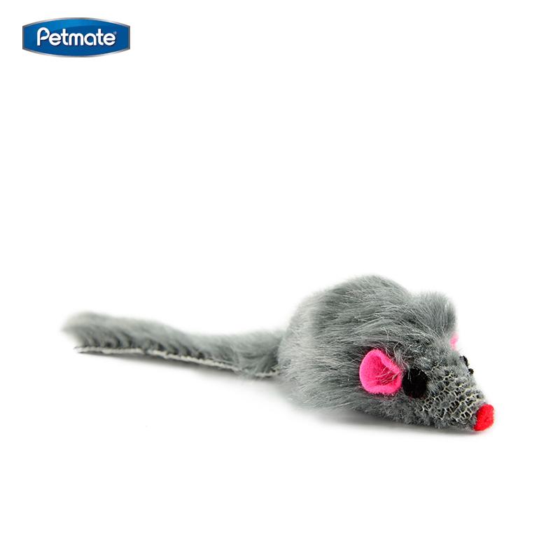 petmate 毛绒猫薄荷小老鼠猫玩具 6个装