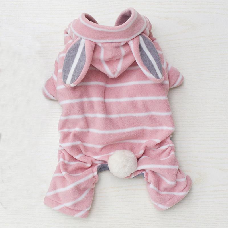 2017年新款 趣派cheepet 摇粒绒可爱兔子变身装 粉红